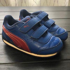 Gently used blue Puma shoes